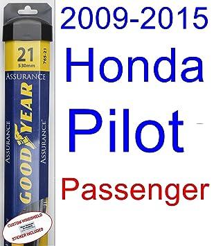 2009 - 2015 Honda Pilot de repuesto para limpiaparabrisas Set/Kit (Goodyear limpiaparabrisas blades-assurance) (2010,2011,2012,2013,2014): Amazon.es: Coche ...