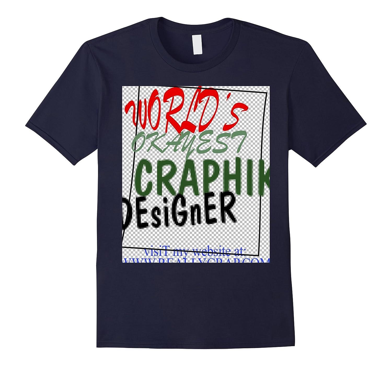 World's Okayest Graphic Designer Gift Gag Shirt-Rose
