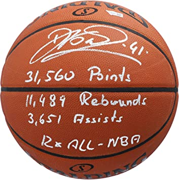 Dirk Nowitzki Dallas Mavericks Autographed Spalding Indoor//Outdoor Basketball Fanatics Authentic Certified