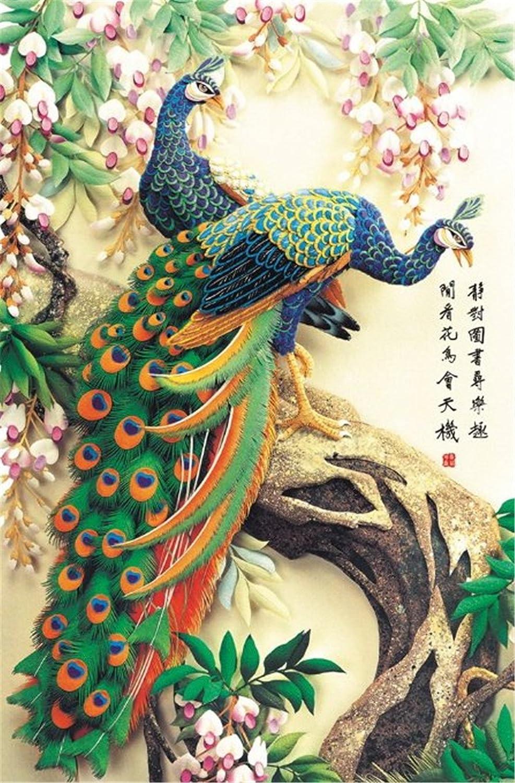 Kangkang@ Chinese Painting Puzzle 1000 Pcs Mascot Peacock Jigsaw Puzzle