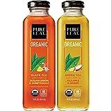 Pure Leaf, Organic Iced Tea, 2 Flavor Variety Pack, 14oz Bottles (Pack of 8)