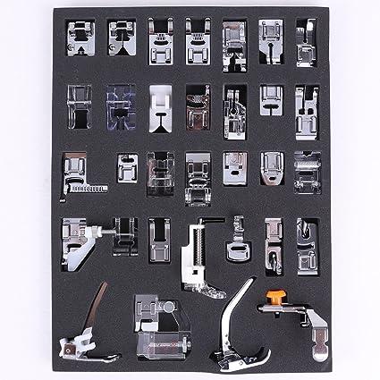 SORA H® Kit de 32pcs multifuncional prensatelas para maquina de coser Presser Foot Feet Kit