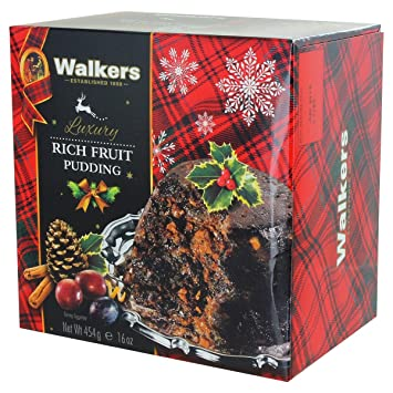 5722ab0f2fa30 Amazon.com : Walkers Christmas Pudding with Rich Fruit - 16oz ...