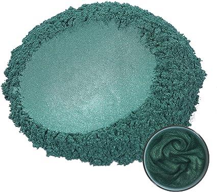 MOSUO Pigmentos para Resina Epoxi, 50g Verde Oscuro Pigmentos en Polvo Natural Mica en Polvos Tintes para Teñir Resina Epoxi, Jabones, Slime, Cera, ...