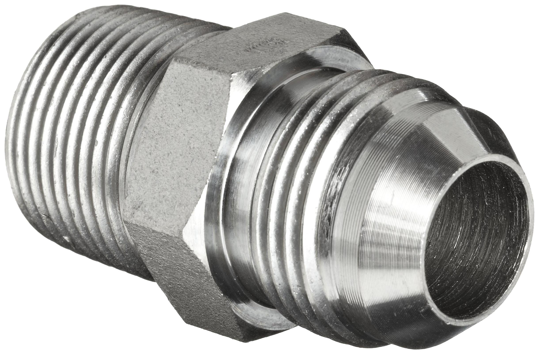 Brennan 2404-24-32 Steel JIC Flared Tube Fitting, Straight, 1-1/2'' Tube OD JIC Male x 2-11-1/2 NPTF Male