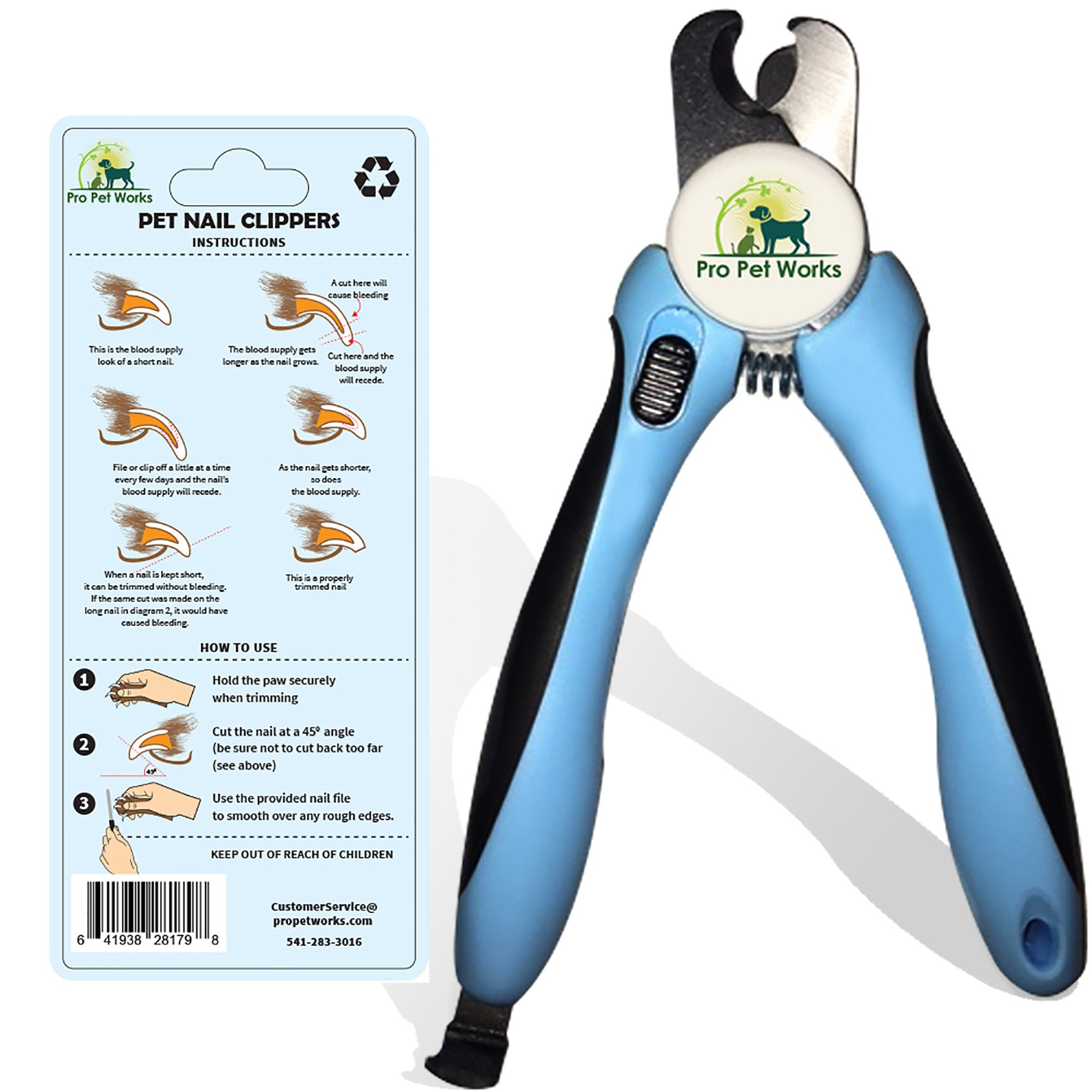 Pro Pet Works Dog Nail Clippers Trimmers With Nail File For