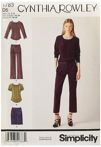 Amazon Simplicity 1783 Misses Sportswear Cynthia Rowley