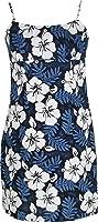 White Hibiscus Fern Women's Empire Slip Cotton Sundress