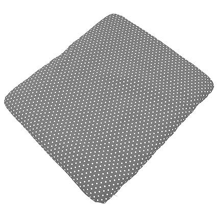 Sugarapple Wickelauflagenbezug Grau Punkte weiß aus 100% Baumwolle für Wickelauflagen 85 x 75 cm, Öko-Tex Standard 100, Herge