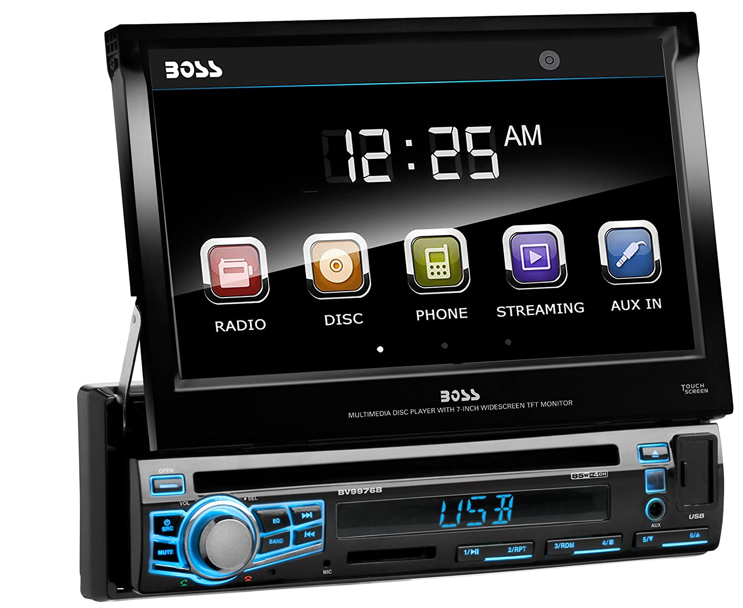 81aHQ%2BK4dBL._SL1500_ amazon com boss audio bv9976b single din, touchscreen, bluetooth big stuff 3 wiring diagram at mr168.co