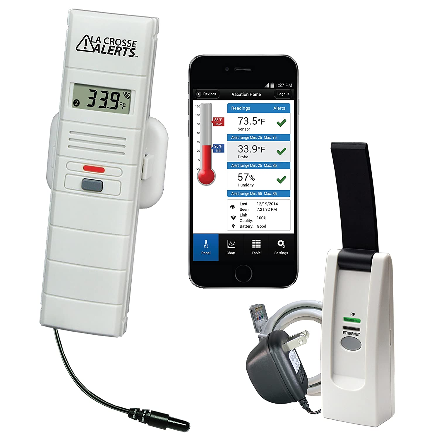 La Crosse Technology 926-25101-GH Greenhouse Monitoring System with Dry Probe for Early Warning Alerts & Wireless mobility B01KC7GX42
