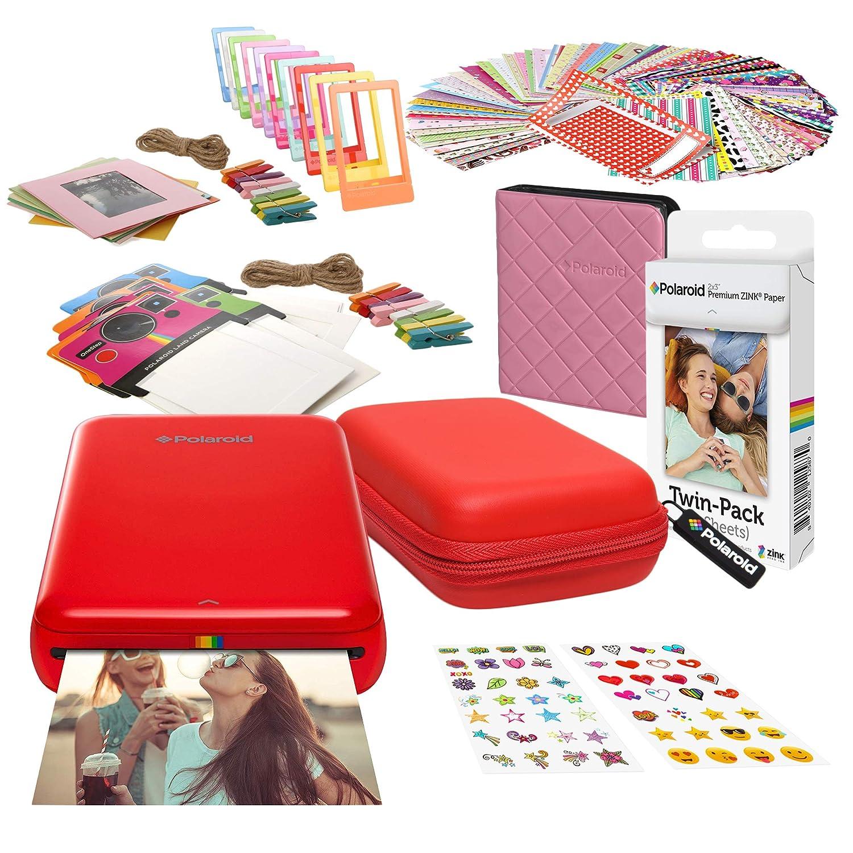 Polaroid Zip Impresora de Fotos Inalámbrica (Rojo) Kit de Inicio ...