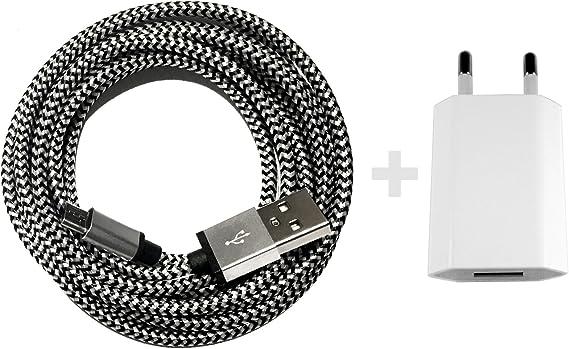 Usb Netzteil 5v 1a 3m Premium Nylon Micro Usb Elektronik