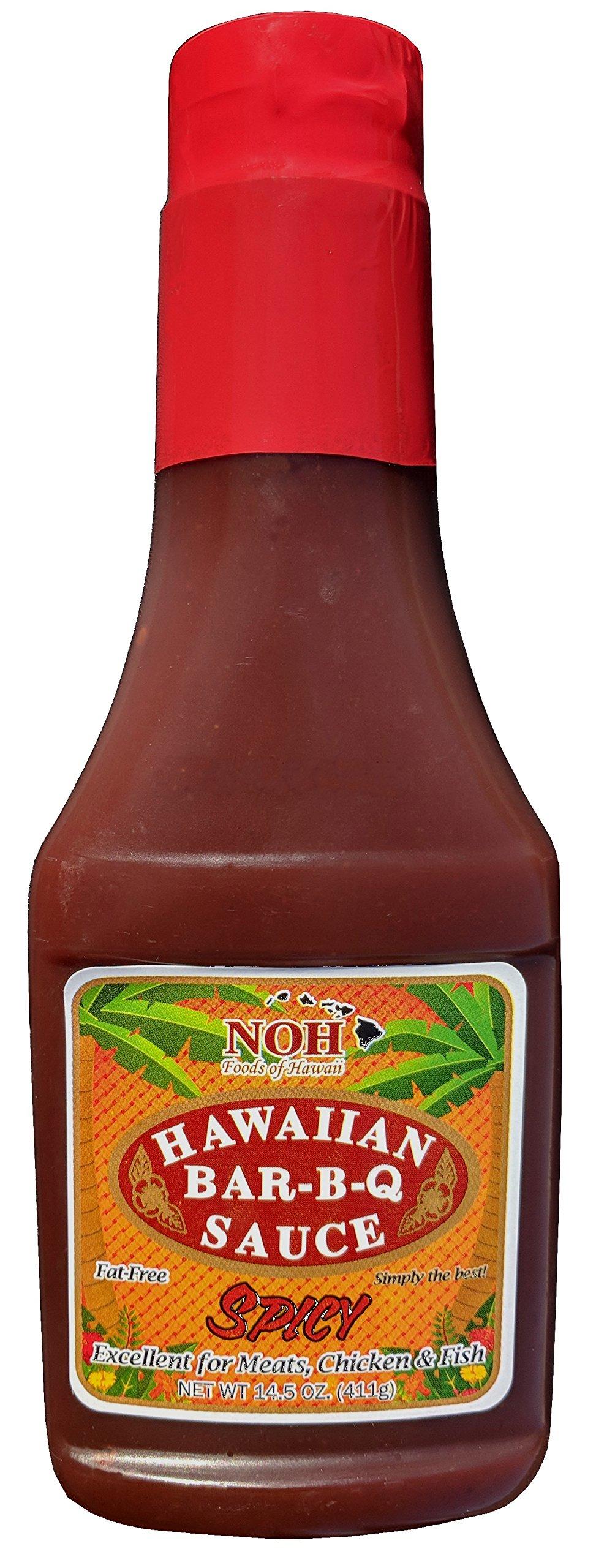 NOH Foods of Hawaii Spicy Hawaiian Bar-B-Q Sauce, 14.5 Ounce (Pack of 6)