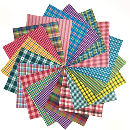 5 inch Precut Cotton Homespun Fabric Squares by JCS 40 Buffalo Lodge Charm Pack