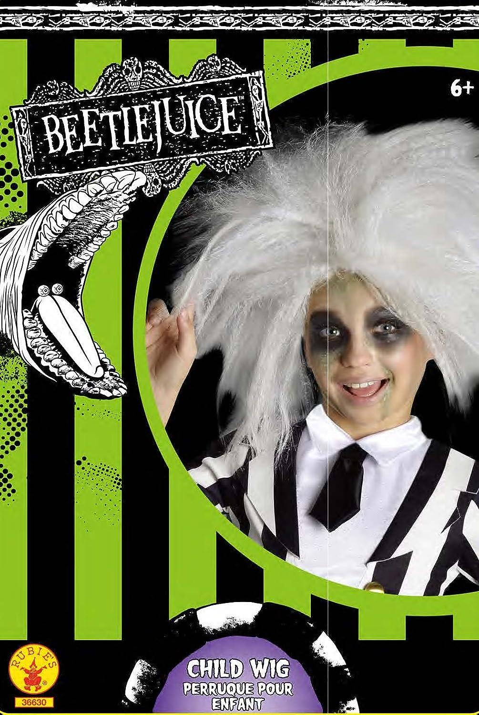 Rubiess Peluca oficial de Beetlejuice para disfraz infantil - Talla única: Amazon.es: Juguetes y juegos