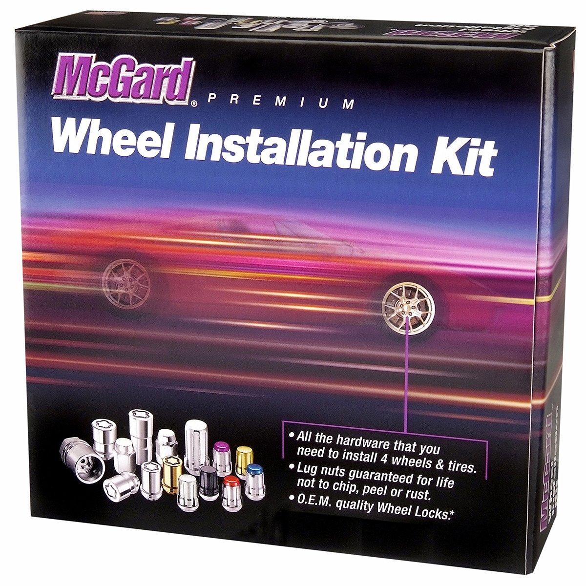 McGard 65810BK SplineDrive Chrome/Black (M14 x 1.5 Thread Size) Wheel Installation Kit for 8-Lug Wheels