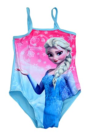 Disney Girls Frozen Anna and Elsa and Olaf Swimsuit Swimming Costume Age 1.5 to 10 Yrs