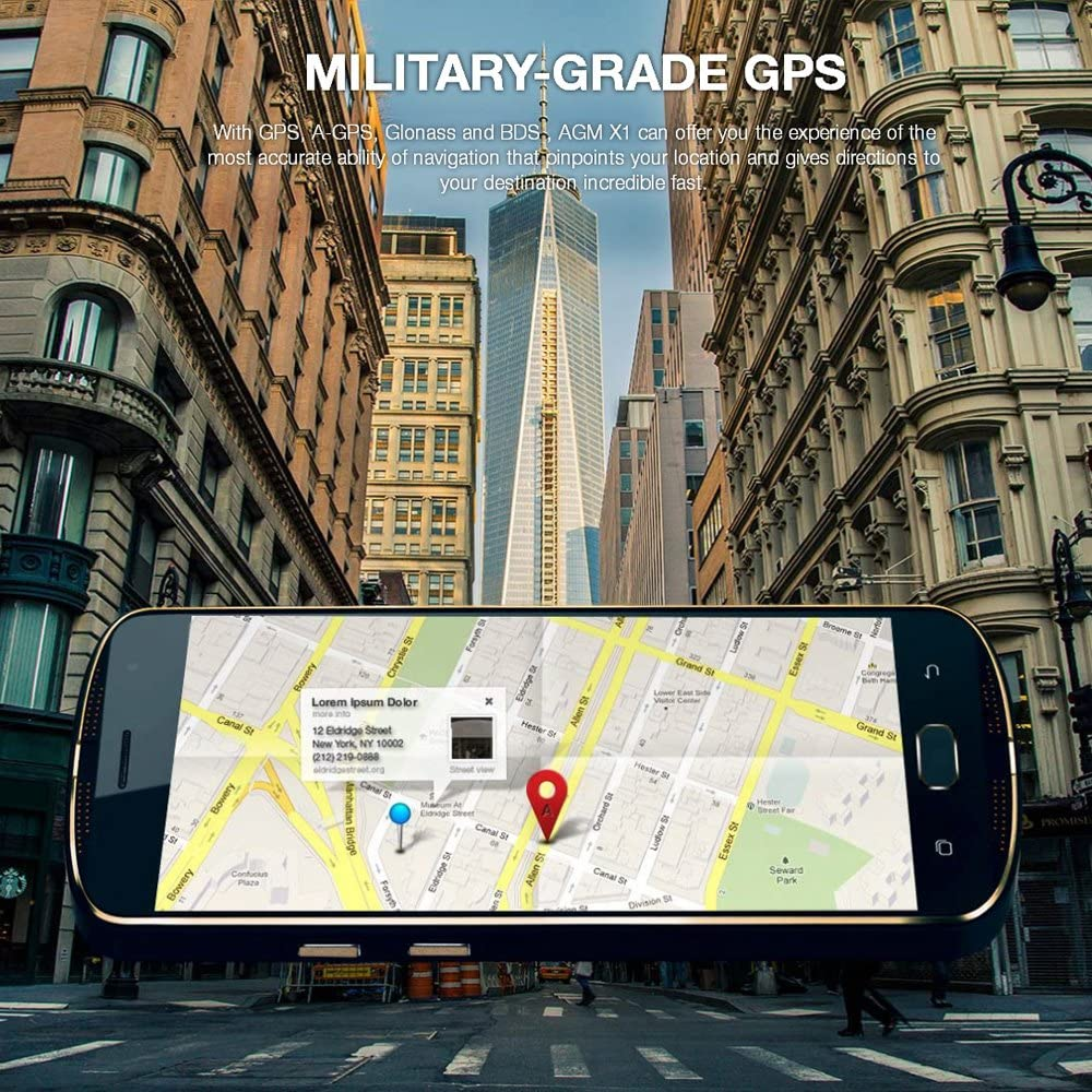 AGM x1 Tri-proof Smartphone 4 G móvil 5,5 pulgadas FHD Super ...