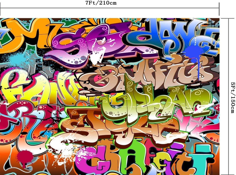 210X150CM GoEoo 7X5FT Hip-hop Theme Wall Seamless Vinyl Photography Backdrop Photo Background Studio Prop PGT123A