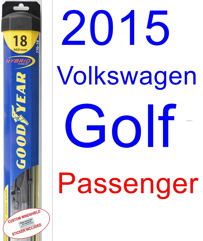 2015 Volkswagen Golf Wiper Blade (Passenger) (Goodyear Wiper Blades-Hybrid)