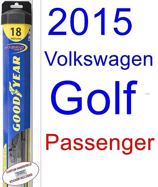 Amazon.com: 2015 Volkswagen Golf Replacement Wiper Blade Set/Kit (Set of 2 Blades) (Goodyear Wiper Blades-Hybrid): Automotive