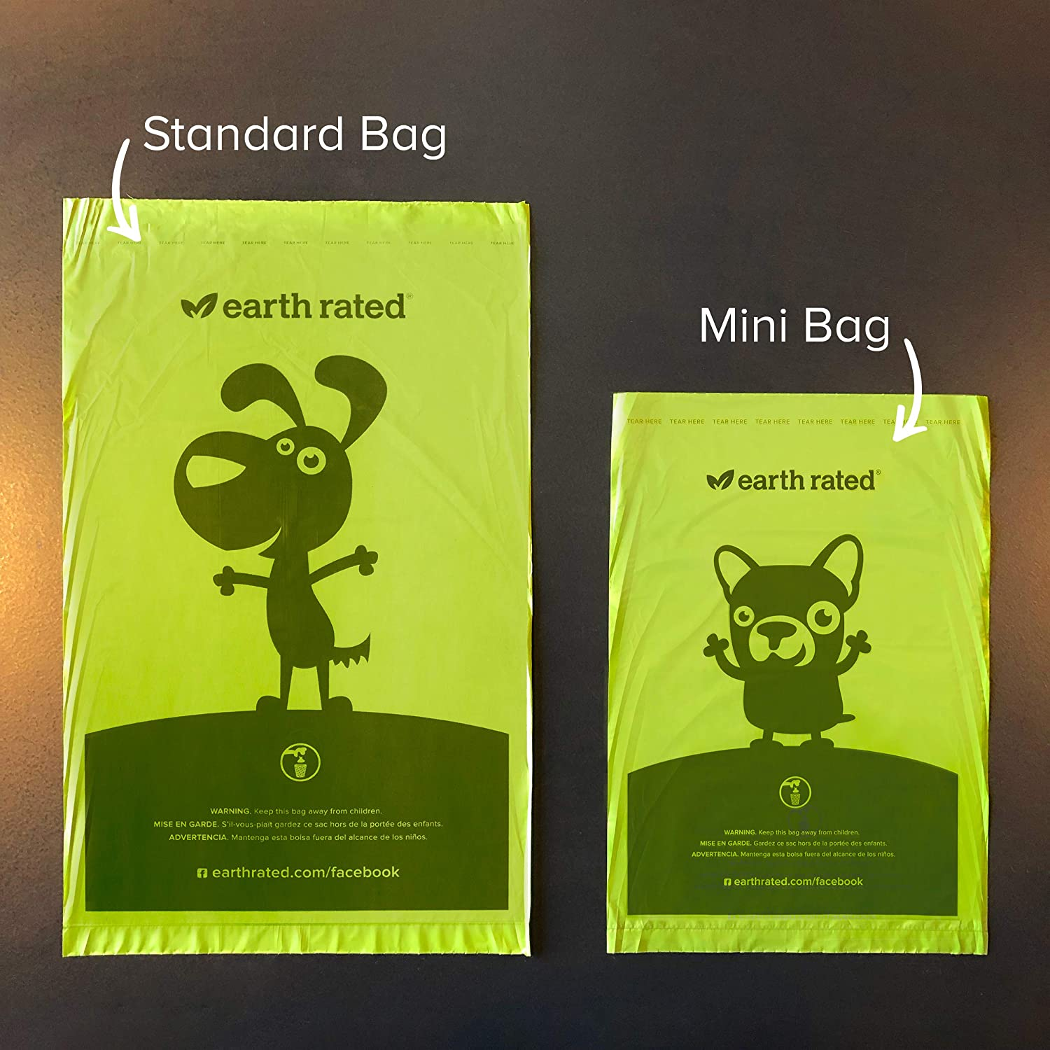 Earth Rated Mini Poop Bags, Lavender-Scented, Pet Waste Bags for Small Dogs, 300 Bags on a Single Roll, Each Dog Poop Bag Measures 6.5 x 9.5 inches