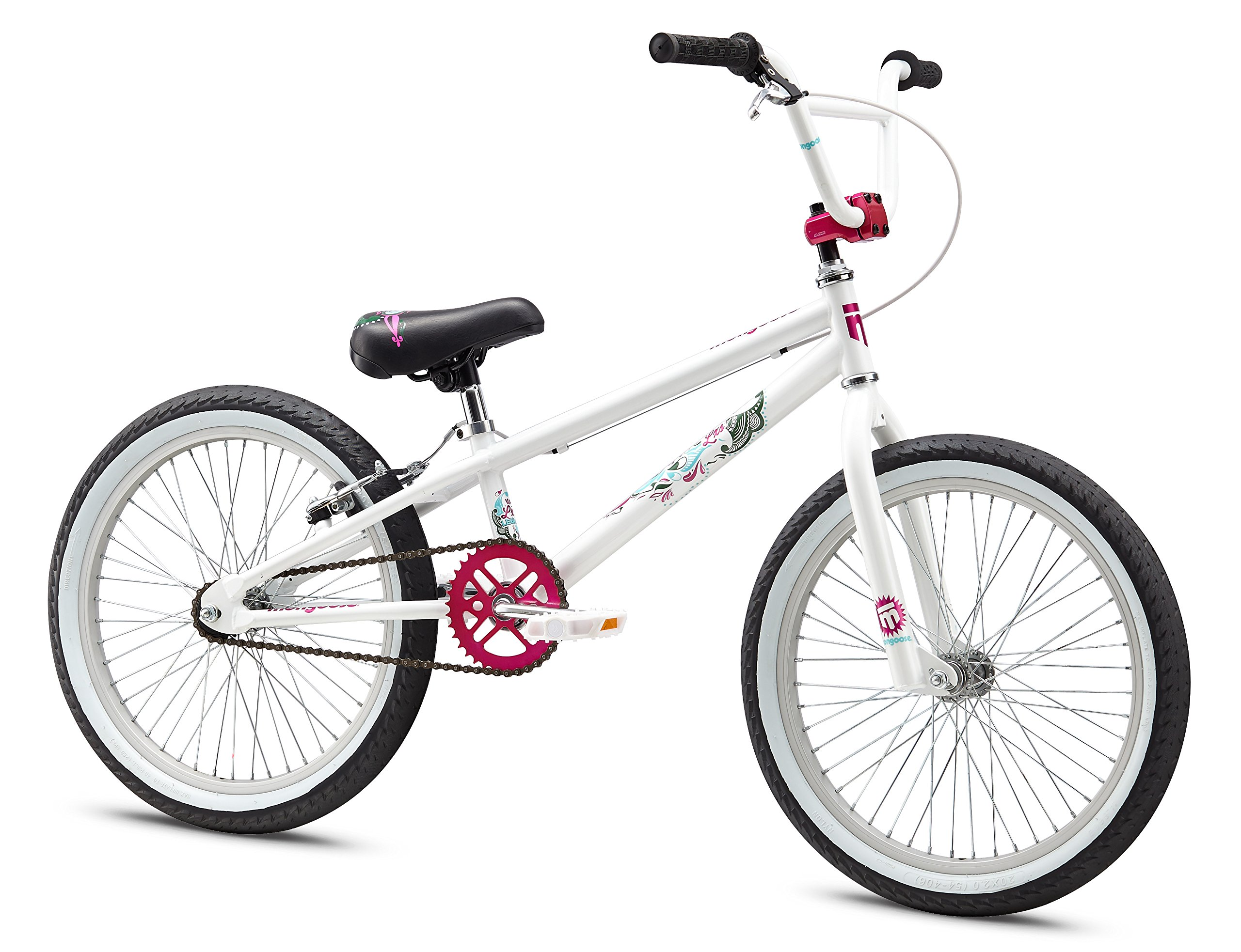 Mongoose Girl's LSX Bicycle, 20-Inch, White by Mongoose