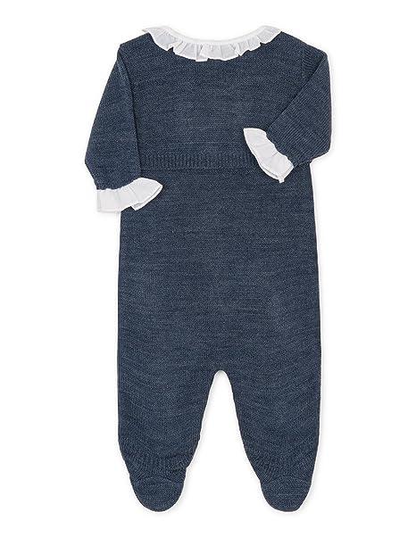 Gocco Punto, Pelele para Dormir para Bebés, Azul Perla Melange 1-3 Meses: Amazon.es: Ropa y accesorios