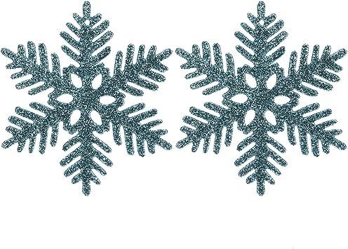 4-inch Sea Team Glitter Fiocchi di Neve in plastica Decorazione per LAlbero di Natale Confezione da 36 Pezzi
