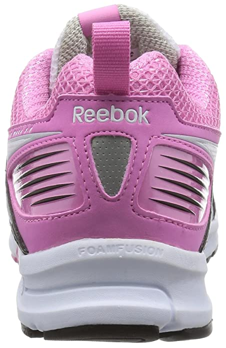 Reebok Triplehall 5.0, Zapatillas de Deporte para Mujer, Blanco/Negro/Rosa/Plateado (White/Black/Icono Pink/Steel/Silver), 36 EU