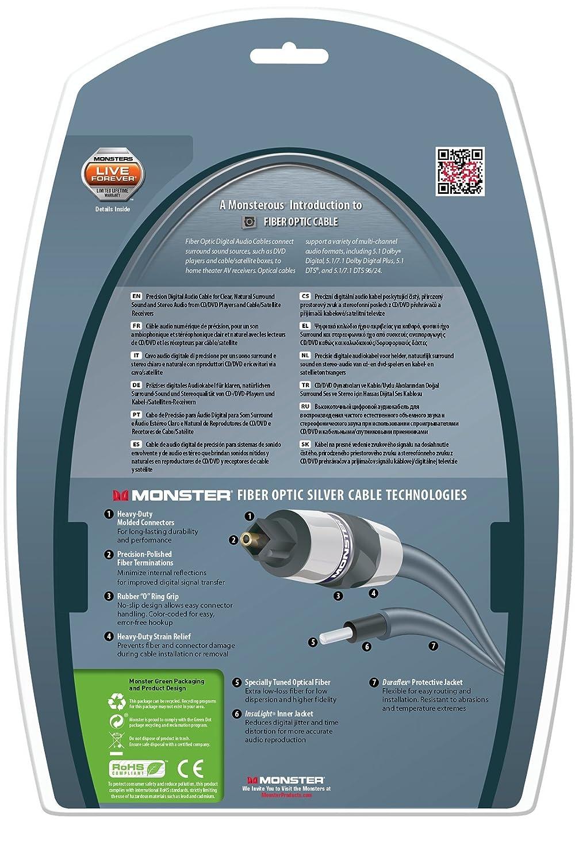 Amazon.com: Monster Silver Advanced Performance Fiber Optic Audio ...
