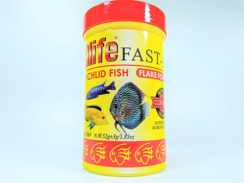 Hai Feng Alife Fast Cichlid Fish Flake Food Color Enhancer N.W.52g (1.83oz)