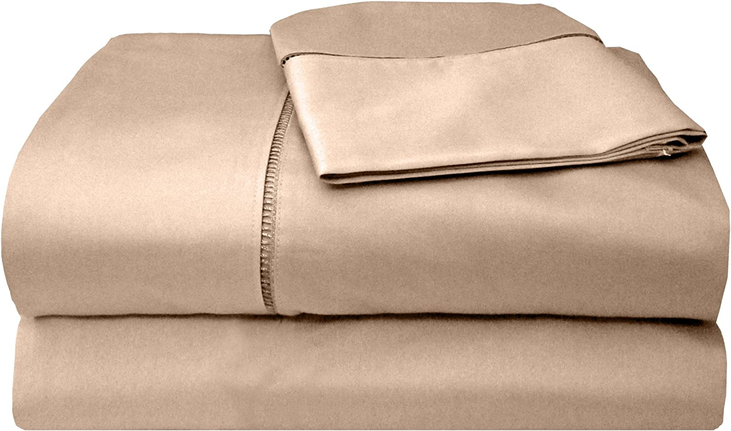 Sage Inc Veratex Legacy Collection 300 Thread Count 100/% Egyptian Cotton Sateen Bed Sheet Set With Elegant Stitch Hem Design Full Size 513954
