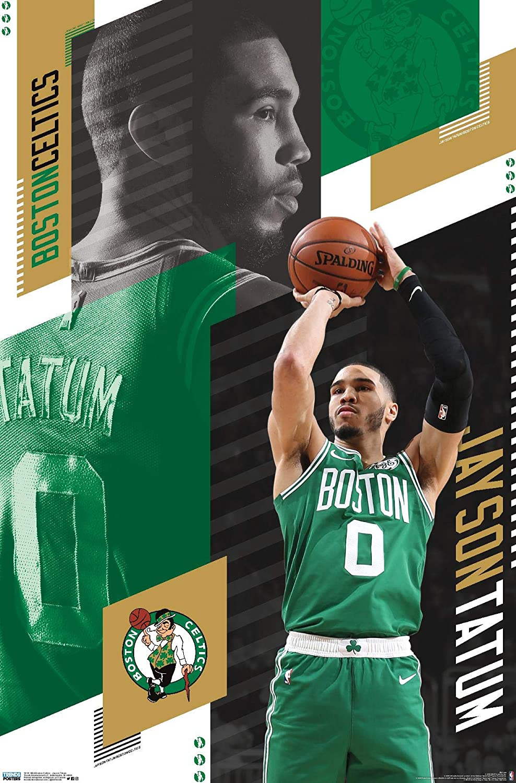Trends International NBA Boston Celtics - Jayson Tatum 19 Wall Poster, 22.375