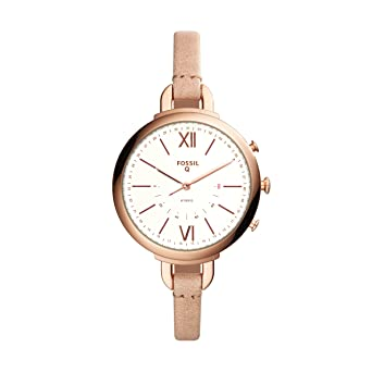 242b2085e9fb Amazon.com  Fossil Women s Annette Sand Leather Hybrid Smartwatch FTW5021   Watches