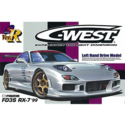 Aoshima #70 C-West RX-7 '99 (left hand drive) 1/24 39199: Toys & Games