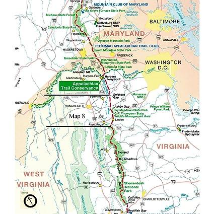 Amazon.com : Appalachian Trail Conservancy ATC Map 8: Northern ...