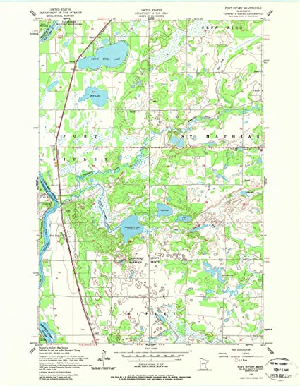 Amazon.com: YellowMaps Fort Ripley MN topo map, 1:24000 Scale, 7.5 on