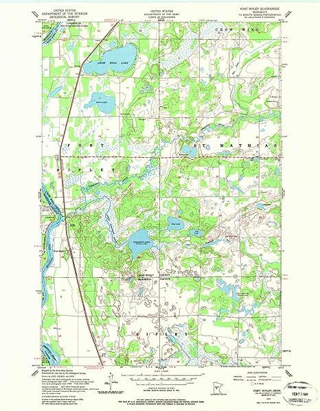 Amazon.com: YellowMaps Fort Ripley MN topo map, 1:24000 ... on camp san luis obispo map, camp grayling map, fort bridger map, camp parsons map, camp ashland map, camp rapid map, camp coniston map, camp butner map,