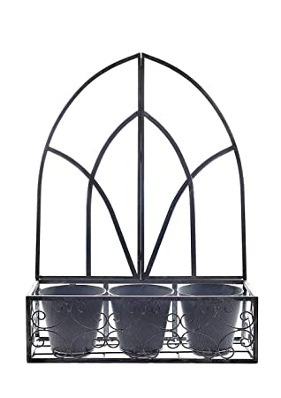 Maison Garden Gothic Metal Wall Planter Amazon Co Uk Garden