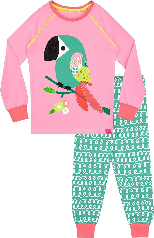 Harry Bear Girls Tropical Toucan Pyjamas Snuggle Fit