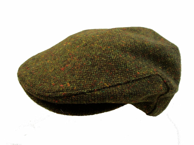 7adaa92555c9b John Hanly   Co. Irish Tweed Flat Cap - Green Donegal Fleck  Amazon.in   Clothing   Accessories