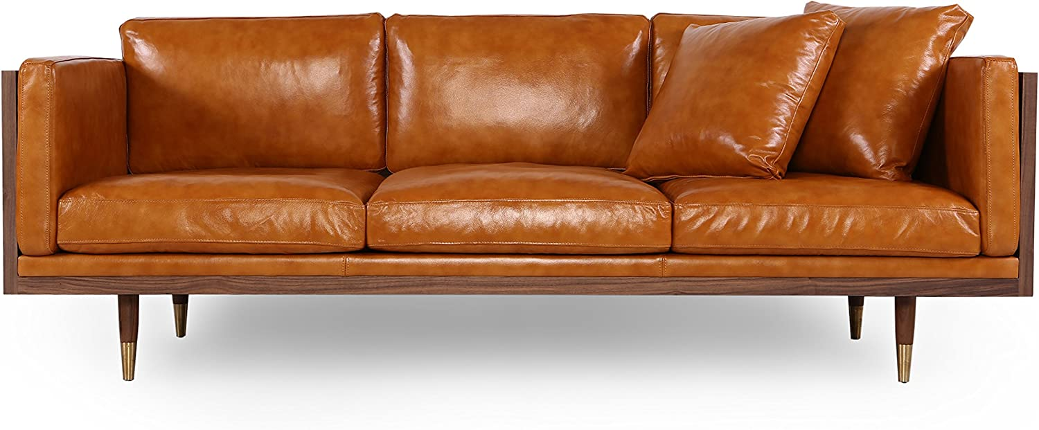 - Amazon.com: Kardiel Woodrow Lush Midcentury Modern Sofa, Walnut