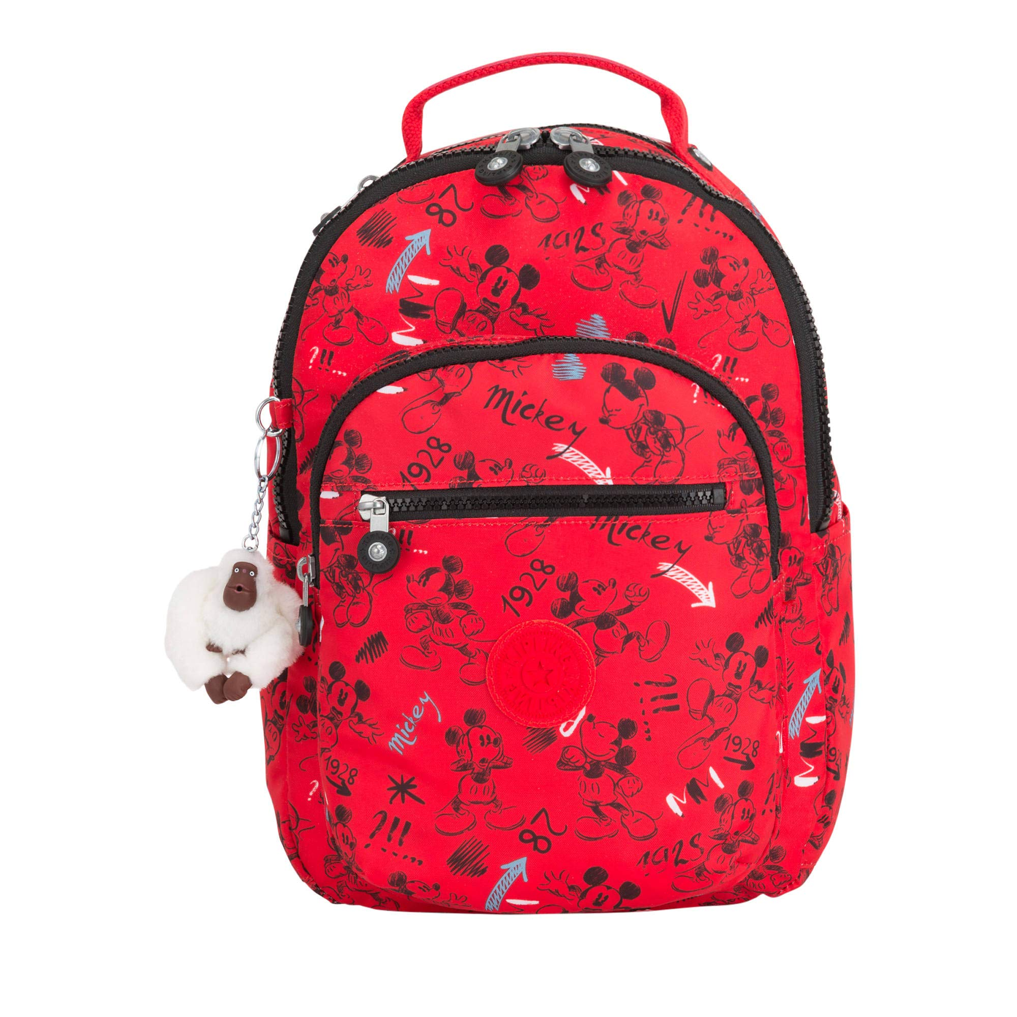 Kipling Disney's Minnie Mouse And Mickey Mouse Seoul Go Small Backpack One Size Sketch Red