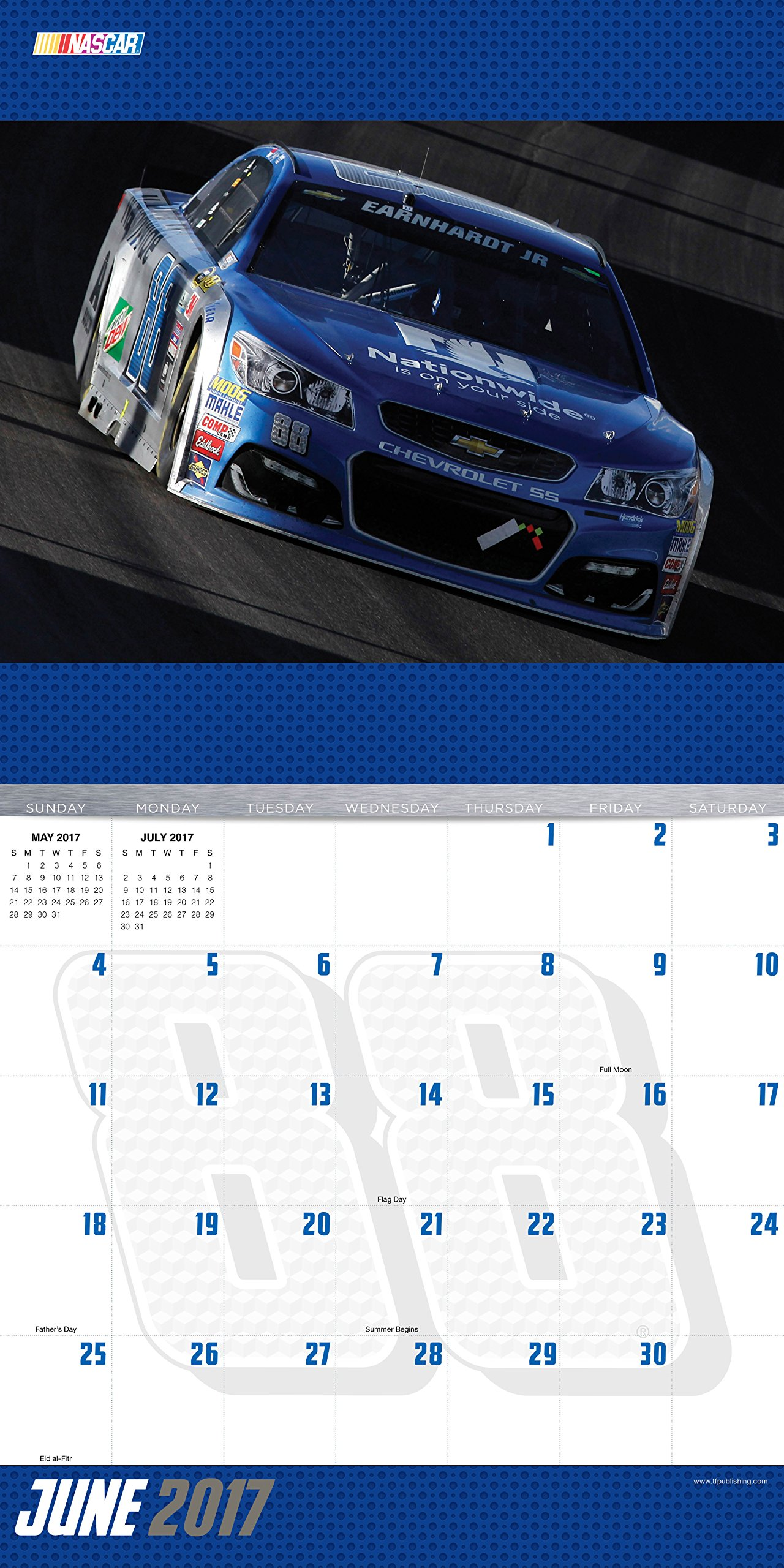 Dale Earnhardt Jr. 2017 Calendar: NASCAR: 9781624386497: Amazon.com: Books