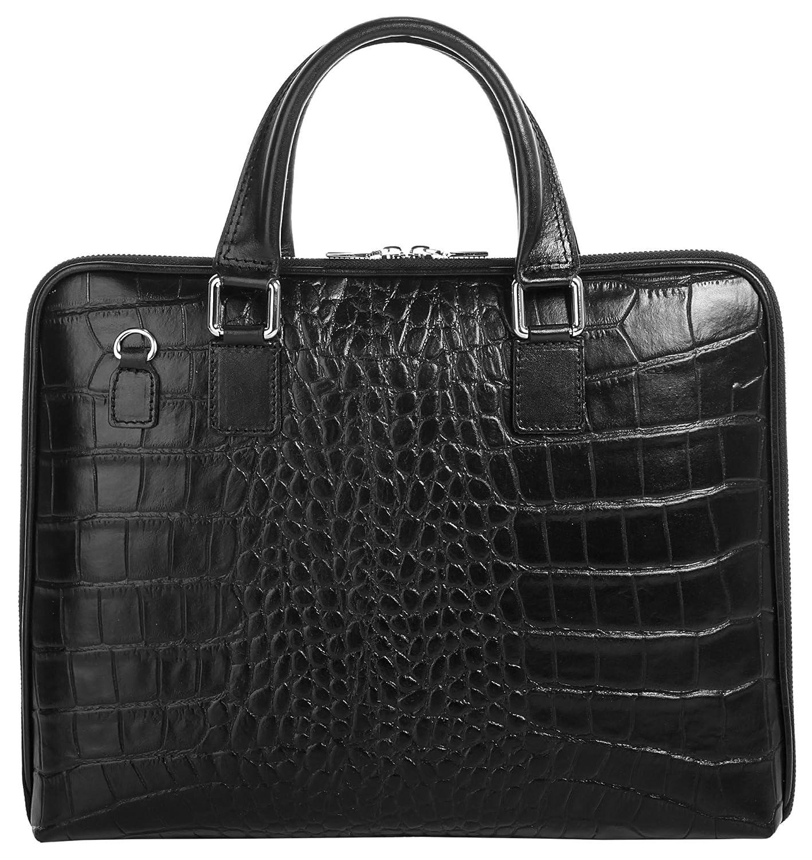 Cluty Aktentasche echt Leder schwarz Damen - 016848
