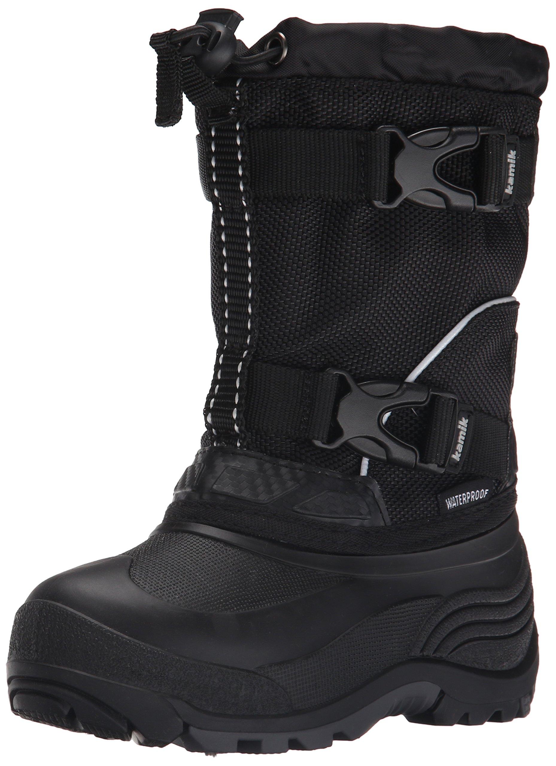 Kamik Glacial Kids Winter Boot (Toddler/Little Kid/Big Kid), Black/Black, 10 M US Toddler