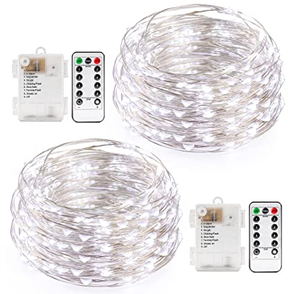 amazon com kohree string light daylight white remote controlkohree string  light daylight white remote control battery