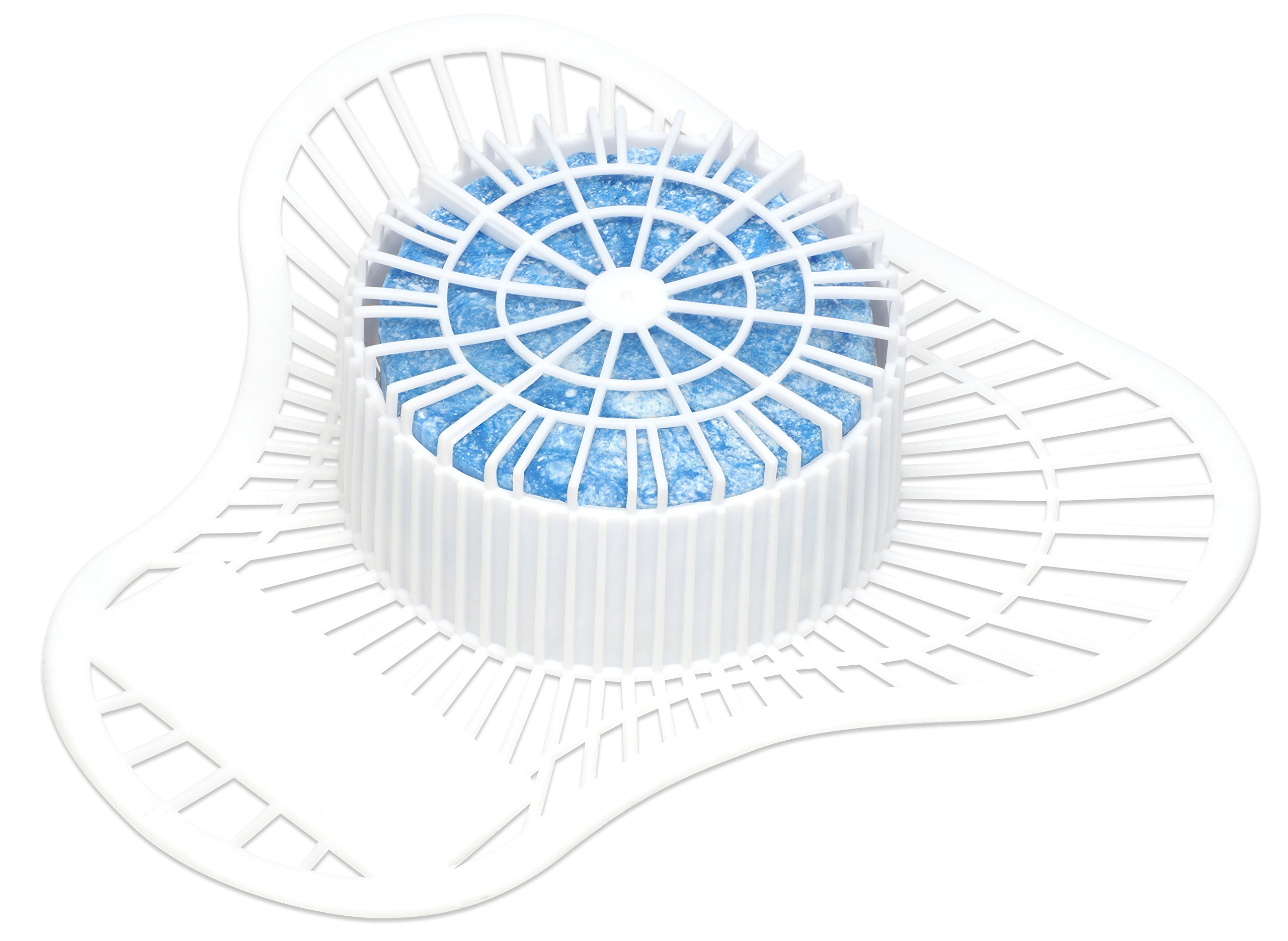 Big D 688 Extra Duty Urinal Screen with Non-Para Block, Mint Fresh Fragrance, 1500 Flushes (Pack of 12) - Ideal for restrooms in offices, schools, restaurants, hotels, stores by Big D